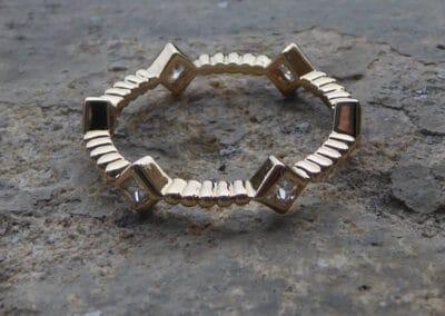 bague collection bijoux plaqué or